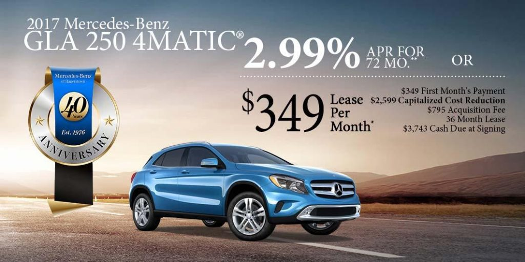 January specials for mercedes benz of hagerstown for Mercedes benz of hagerstown md