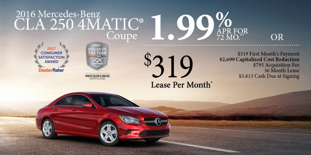 March specials at mercedes benz of hagerstown mercedes for Mercedes benz special deals